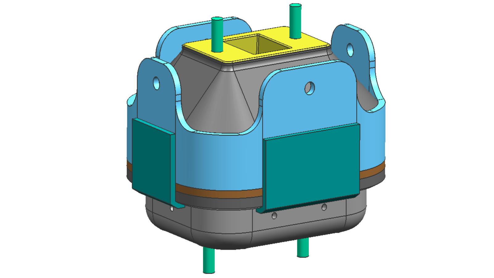 面向中重型动力装置的液阻型橡胶隔振器