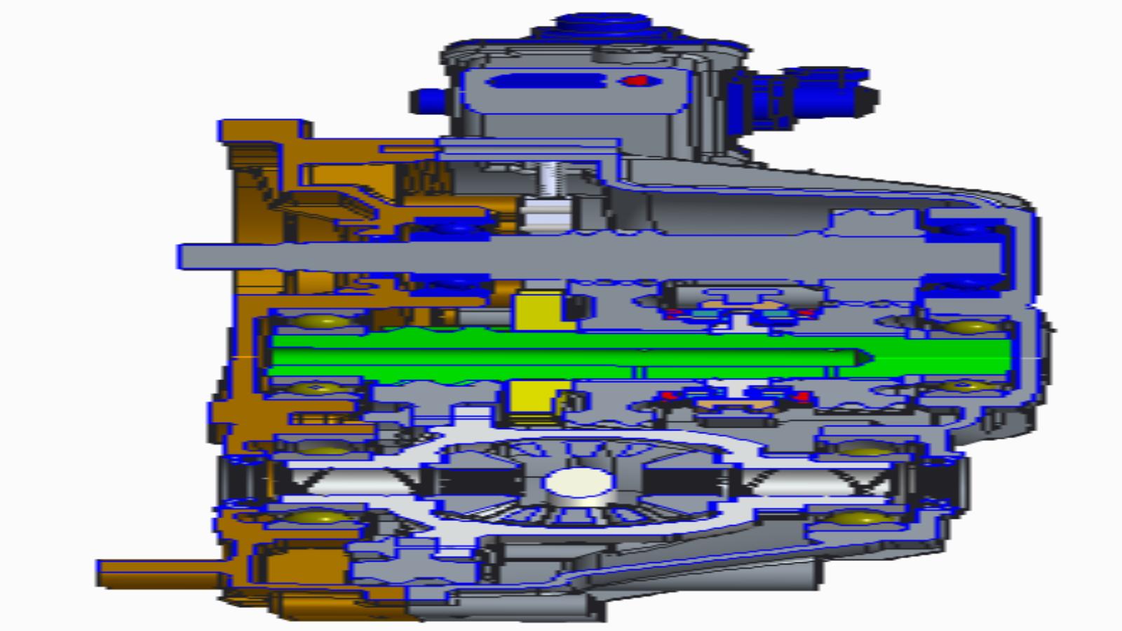 电动汽车自动变速器传动系统