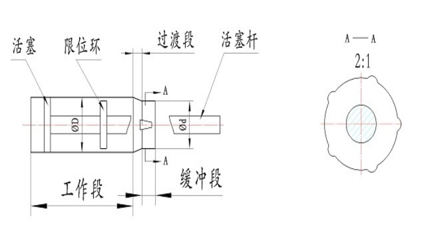 汽车悬架液压限位减振器