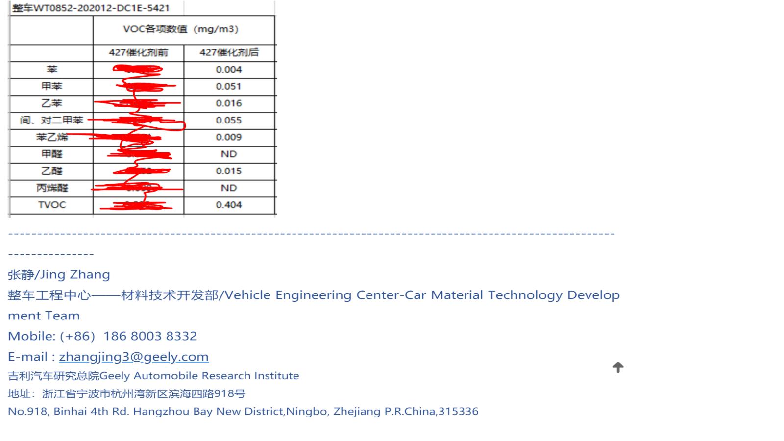 可见光光催化技术在受限密闭环境(车内)中的应用研究